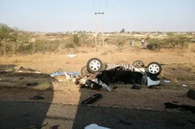 cash-in-transit vehicle & seven-seater car crash
