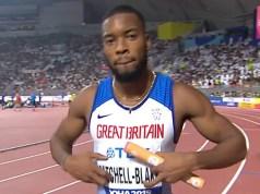 Britain 4 x 100m team