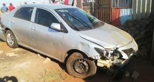 Car crashes through shack1