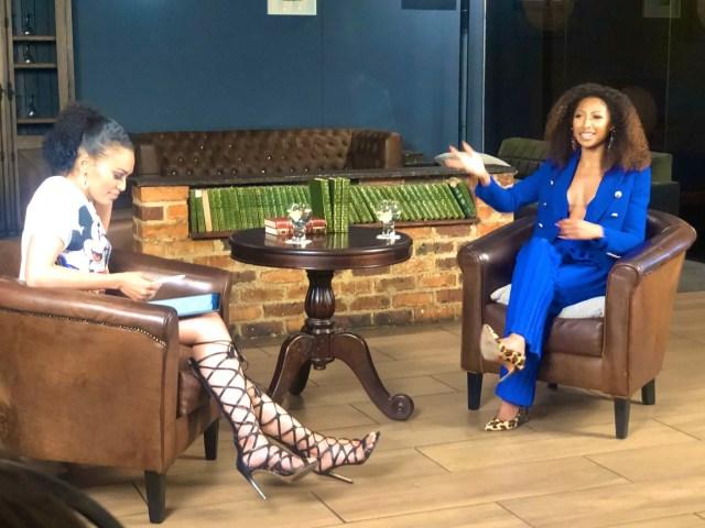 Enhle Mbali and Pearl Thusi