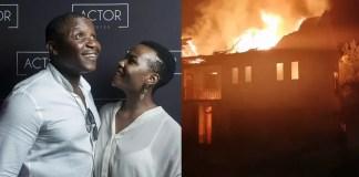 Mona Monyane and Khulu Skenjana's house burns down