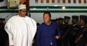 President Muhammadu Buhari in South Africa