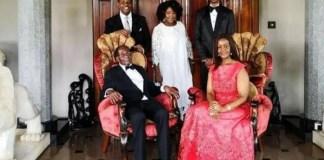 Robert Mugabe and family