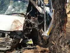 Woman in critical condition following taxi crash with tree