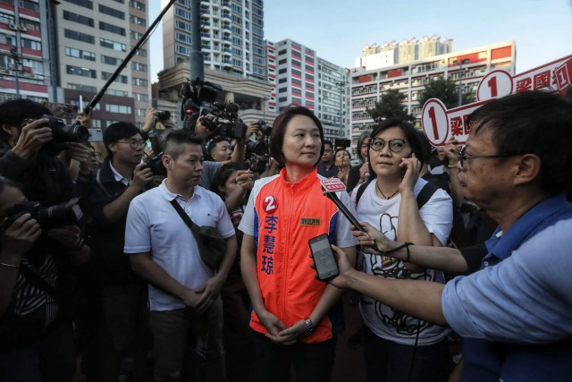Pro-Beijing candidate Starry Lee