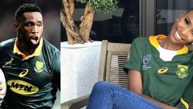 Photo of Zozibini Tunzi and Siya Kolisi trend on social media after interaction