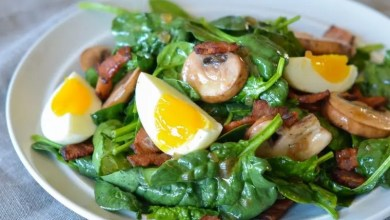 Photo of Warm spinach and bacon salad – Recipe