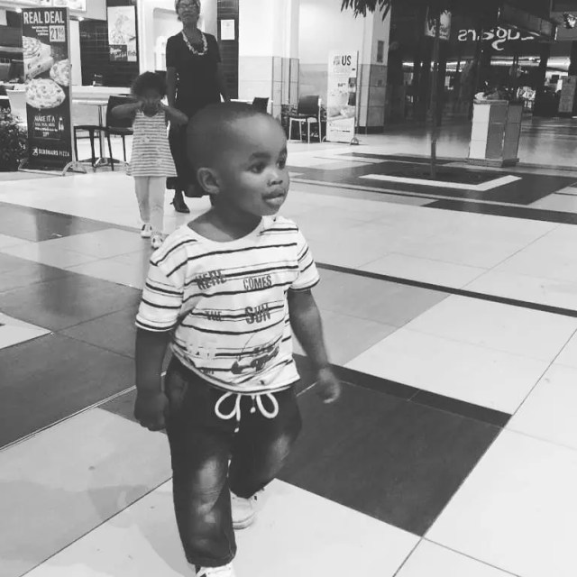 Andile Gumbi's four-year-old Son