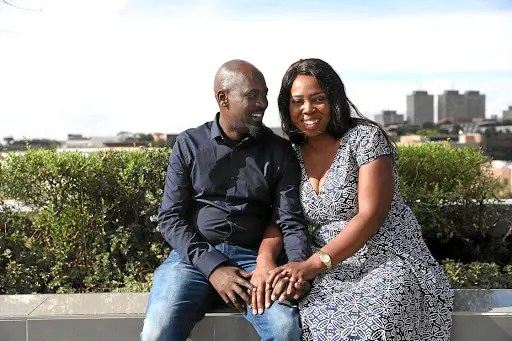 Hector Mkansi and his wife-to-be Nonhlanhla Soldaat