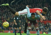 Manchester United 2 - 2 Aston Villa