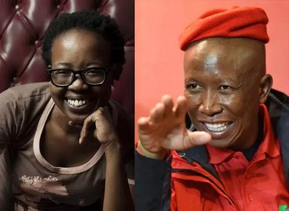 Ntsiki Mazwai and Julius Malema