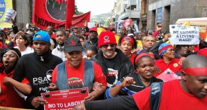 PSA and NEHAWU members protesting