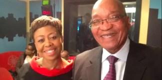 Redi Tlhabi and Jacob Zuma
