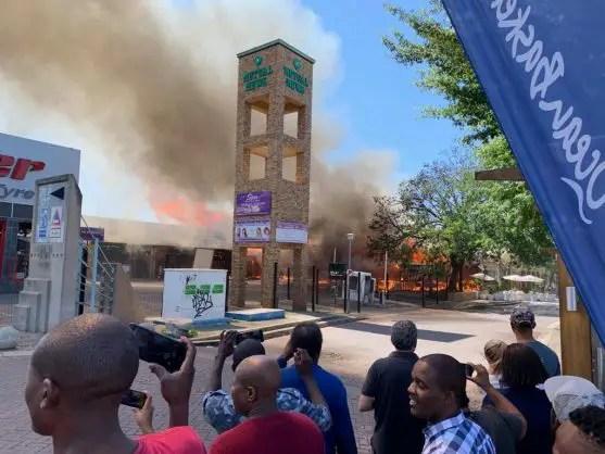 Rivonia shopping complex fire