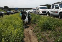 Three injured in double rollover
