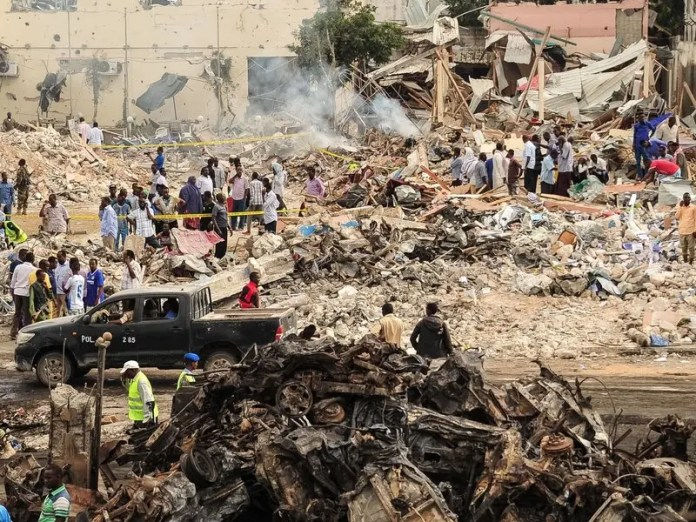 truck bombing in Mogadishu