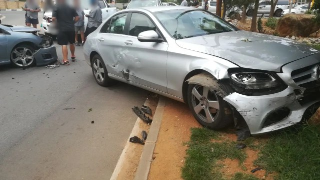 five vehicle crash in Randburg