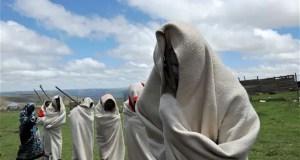 men at initiation ceremony