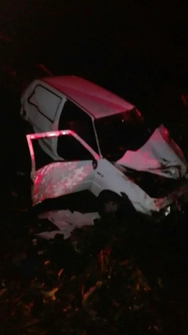 Driver launches car over bridge