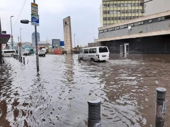 Flash flooding in downtown Johannesburg