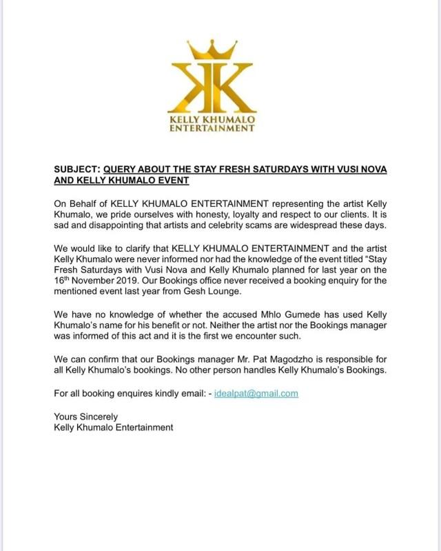 Kelly Khumalo entertainment