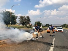 Police fire rubber bullets at Soweto protesters