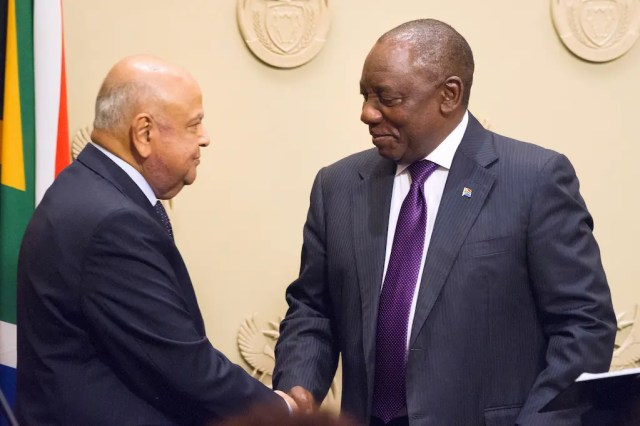 Pravin Gordhan and Cyril Ramaphosa