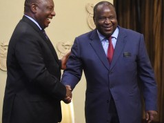President Cyril Ramaphosa and mboweni