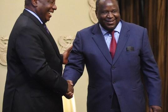 President Cyril Ramaphosa and mboweni