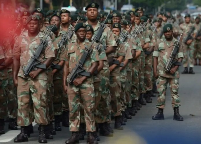 South African troops