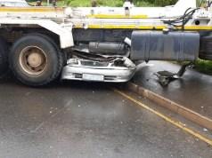 truck vs car crash