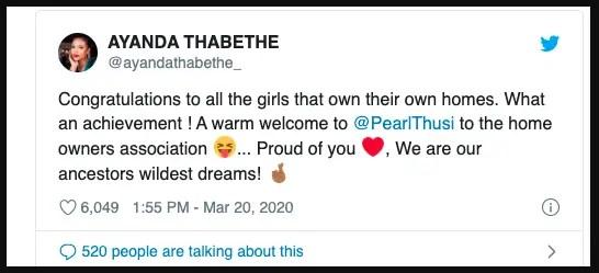 Ayanda Thabethe comments
