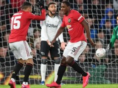Derby County 0 -3 Manchester United