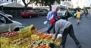 Informal traders in Cape Town
