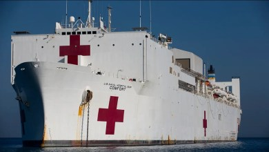 Photo of COVID-19: New York gets hospital ship