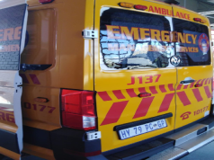 Ambulance vandalised in Alexandra