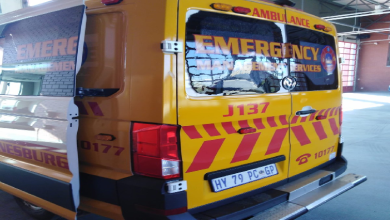 Ambulance vandalised in Alexandra