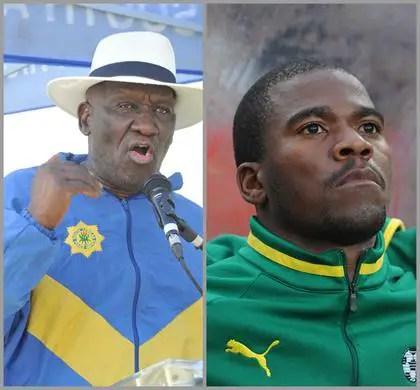 Bheki Cele and Senzo meyiwa