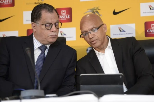 Danny Jordaan and Dennis Mumble