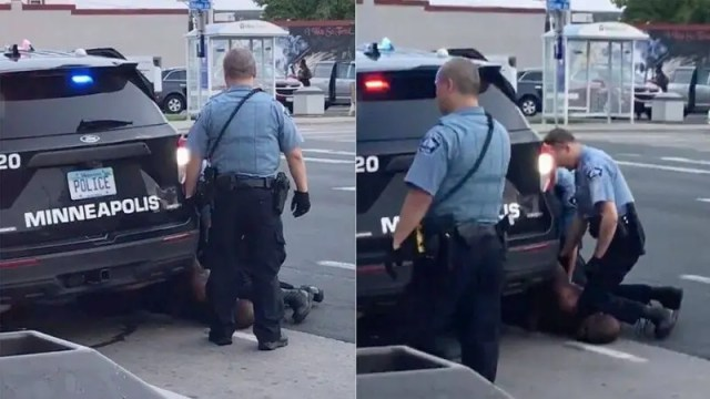 Four Minnesota police officers have been fired after the death of a black man who was taken into custody and seen on video being pinned down by his neck. Minneapolis Police Chief Medaria Arradondo said the four officers were now