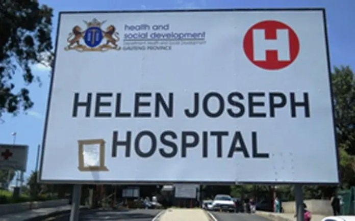 Management calls for lasting solutions to water crisis at Helen Joseph Hospital
