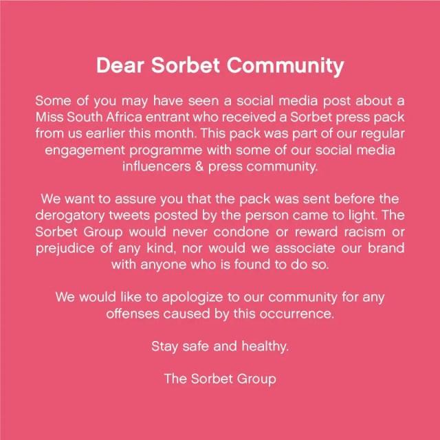 Sorbet response