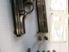 The CZ pistol the 21-year-old allegedly used to fire at his alleged tormentors