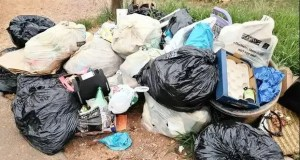 uncollected rubbish