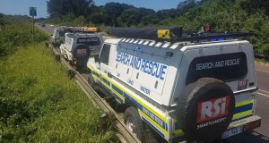 A police search and rescue team