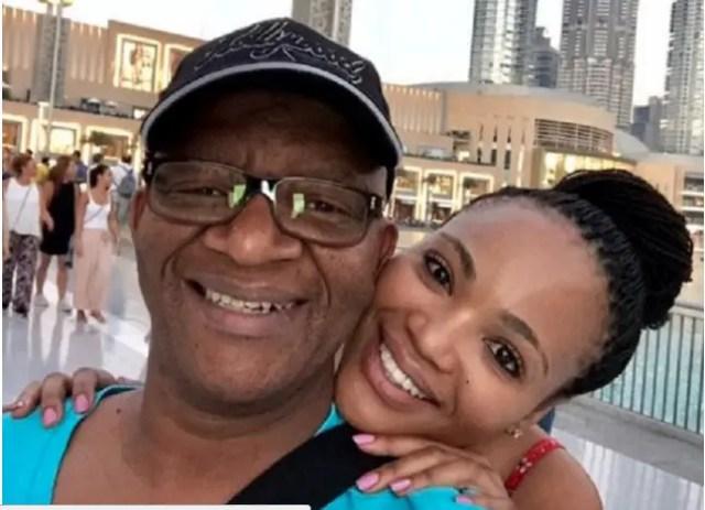 Lebo M and partner Mel Ntsala