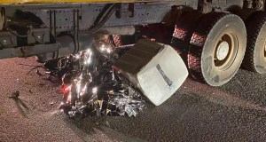 Motorcyclist killed after slamming into truck