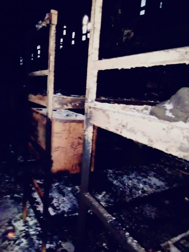 Pictures of the burned prison cell at Potchefstroom Correctional Services