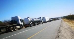Truck drivers at Beitbridge border post