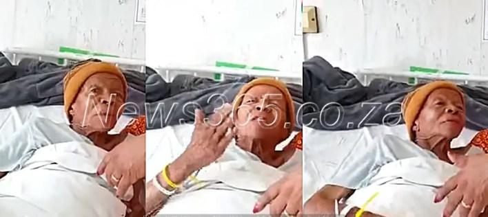 Mary Twala in hospital